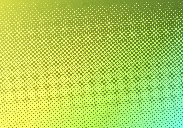 Heldergroen met gele gestippelde halftone. verschoten gestippeld verloop. Abstracte levendige kleur textuur. Moderne pop-art ontwerpsjabloon. vector