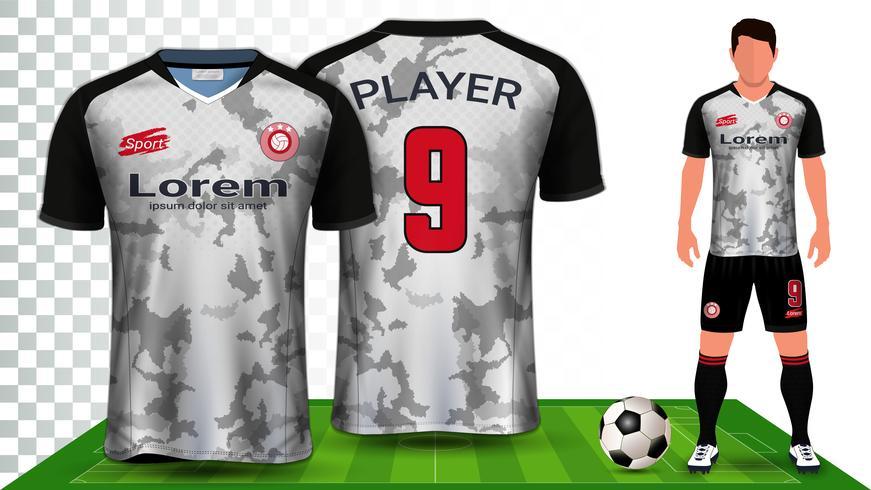Voetbal Jersey en voetbal Kit presentatie Mockup sjabloon. vector