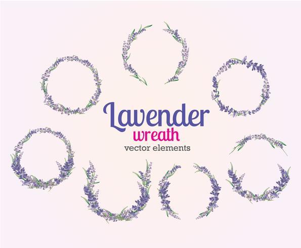 Lavendel krans Vector