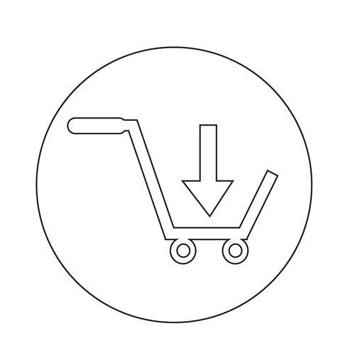 koop winkelwagen icoon vector