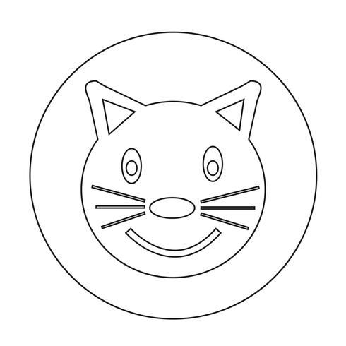 kat pictogram vector