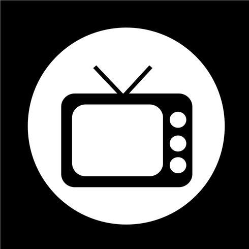 Retro tv-pictogram vector