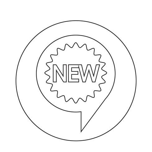 Nieuw pictogram vector
