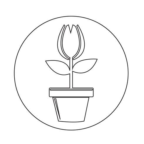 Bloempot pictogram vector