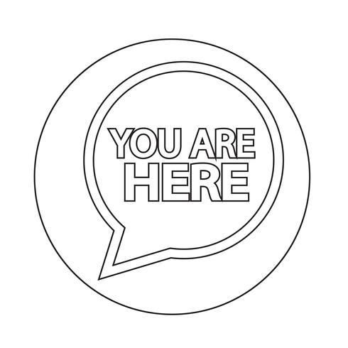 U bent hier pictogram vector