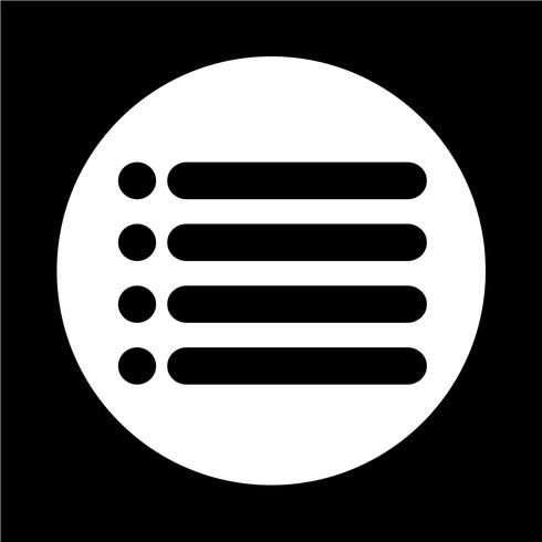 lijst pictogram teken vector