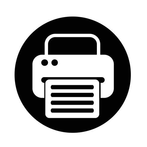 fax web pictogram vector