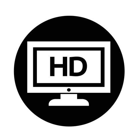 tv-pictogram vector