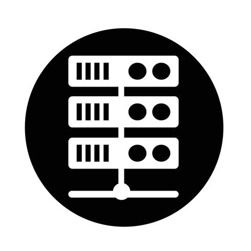 Computer server pictogram vector
