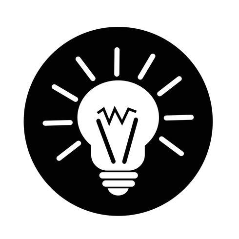 licht idee pictogram vector