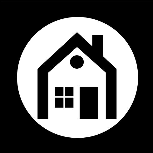 Onroerend goed huis pictogram vector