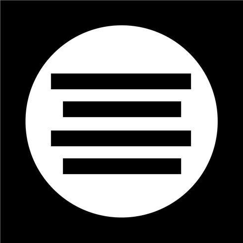 Tekst uitlijnen pictogram vector