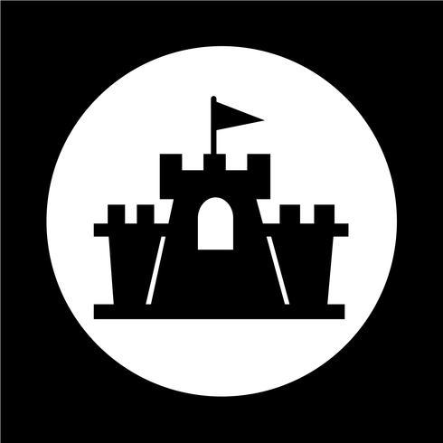 kasteel pictogram vector