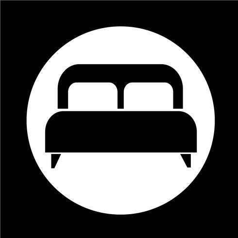 tweepersoonsbed pictogram vector