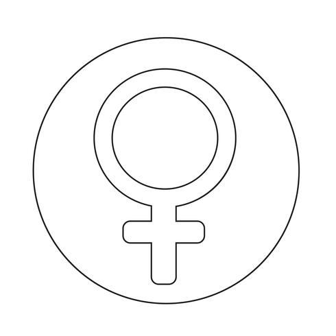 vrouwelijk teken pictogram vector