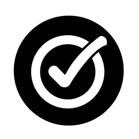 Controleer het pictogram van de lijstknop vector