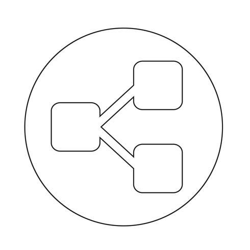 Boomstructuur icoon vector
