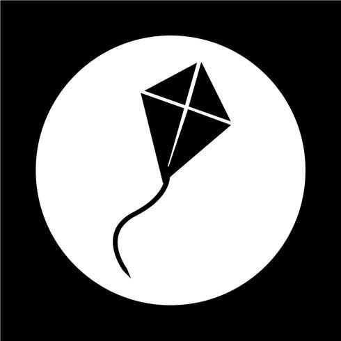Vlieger pictogram vector