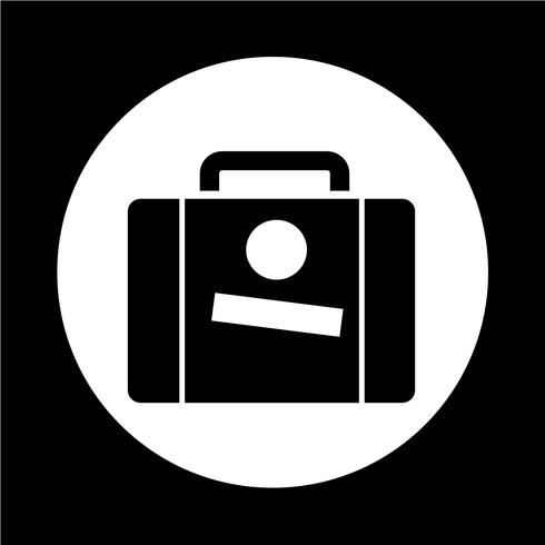 Koffer pictogram vector