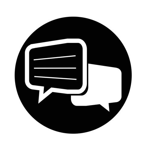 Chat dialoog pictogram vector
