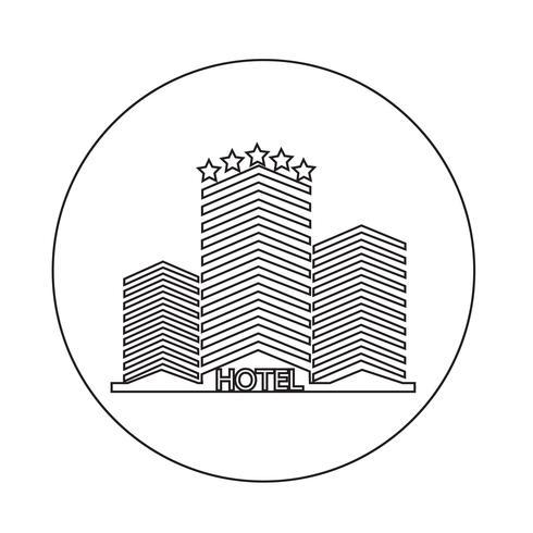 hotel pictogram vector
