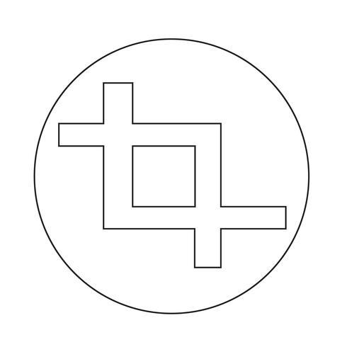 Bijsnijden pictogram vector