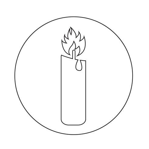 Kaars pictogram vector