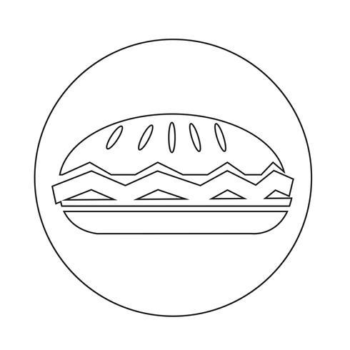 voedsel taart pictogram vector