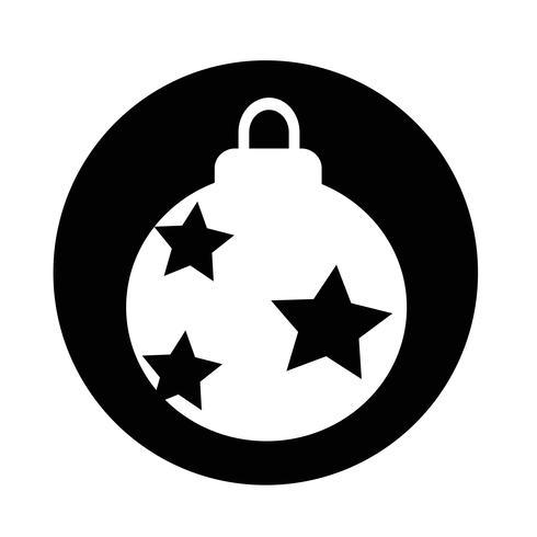 Kerstbal pictogram vector