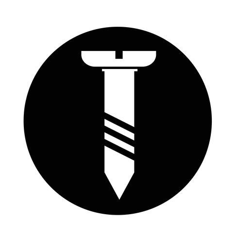 schroef pictogram vector