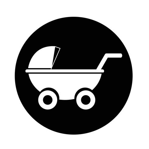 Kinderwagens pictogram vector