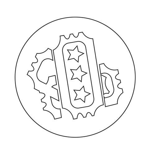 ticket pictogram vector