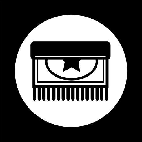 Tapijt pictogram vector