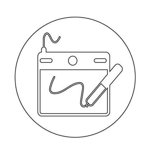 Digitale tekentafel pictogram vector