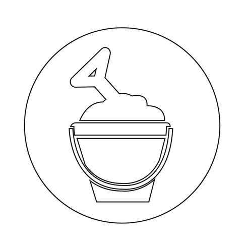 zand emmer pictogram vector