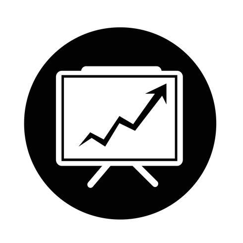 Groeiende grafiek presentatie pictogram vector