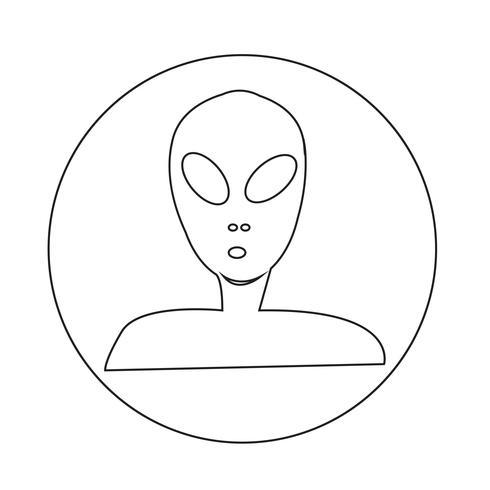 Buitenaards pictogram vector