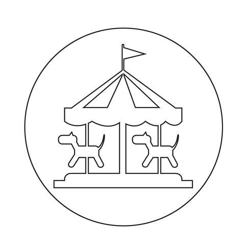 vrolijk gaan ronde pictogram vector