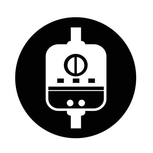 Waterverwarmer pictogram vector