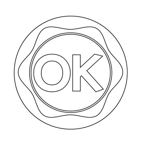 OK-knop vector