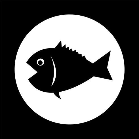 Vissen pictogram vector