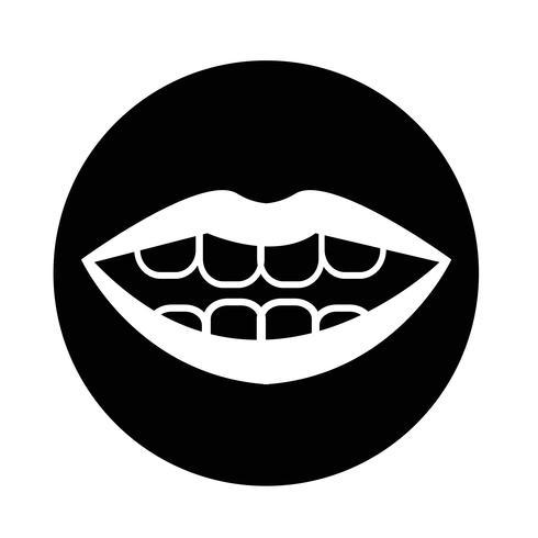 mond pictogram vector