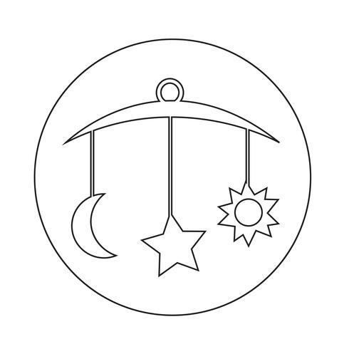 baby hangende pictogram vector