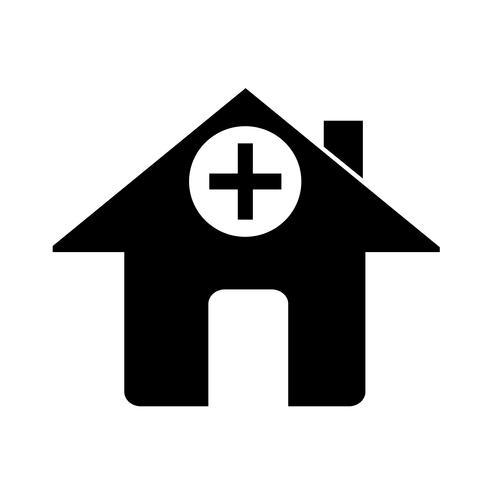 Teken van ziekenhuis pictogram vector