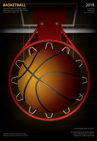 Basketbalaffiche die Vectorillustratie adverteren vector