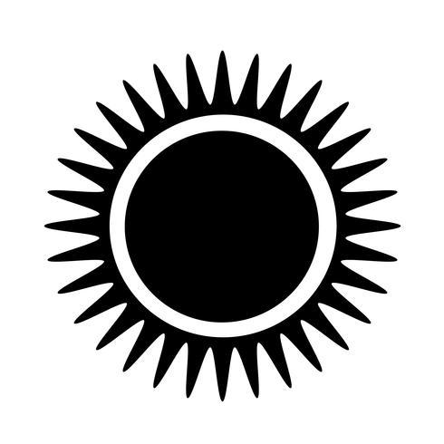 Teken van zon pictogram vector