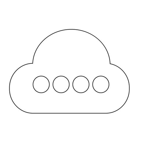 Teken van wolk pictogram vector