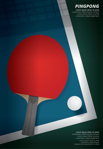 Pingpong Poster Sjabloon vectorillustratie vector