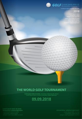 Poster Golf Championship vectorillustratie vector