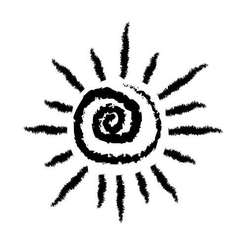 Teken van het pictogram van de zon vector